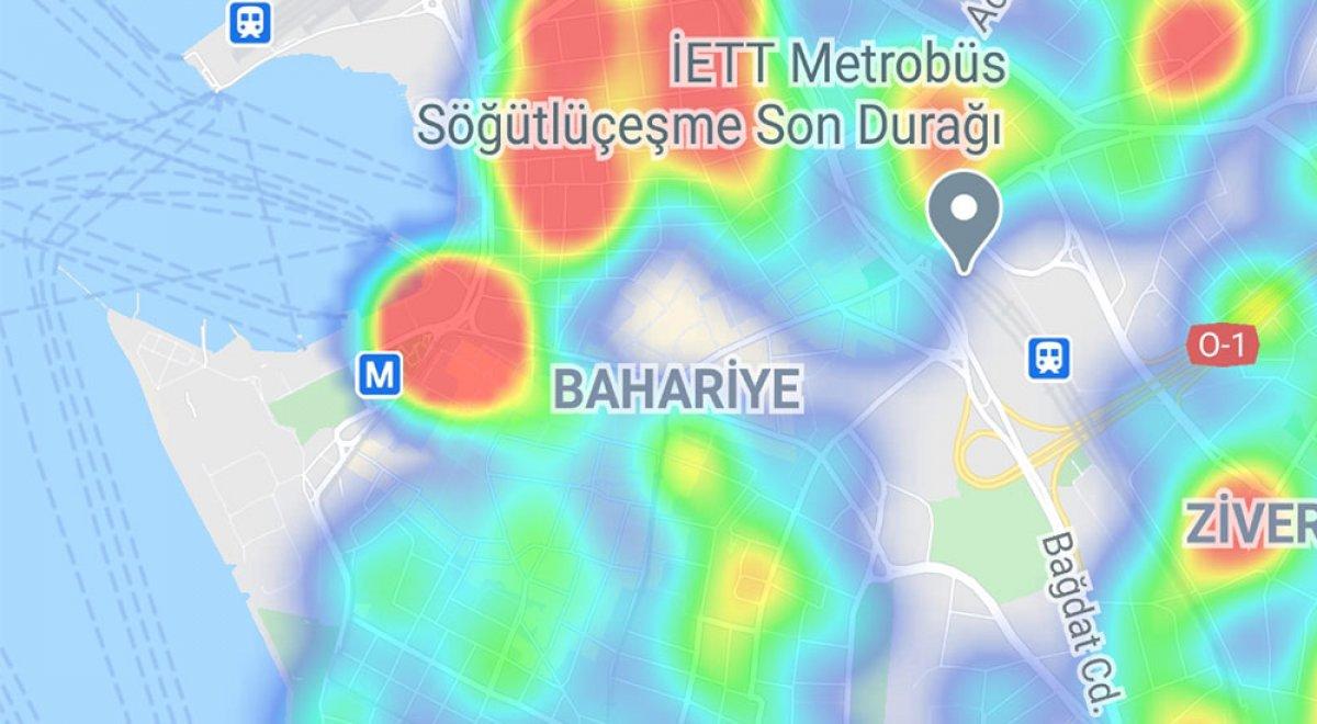 İstanbul da ilçelere göre vaka yoğunluğu #23