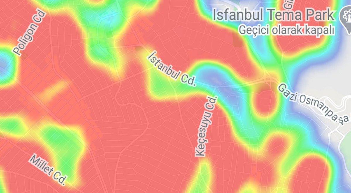 İstanbul da ilçelere göre vaka yoğunluğu #21