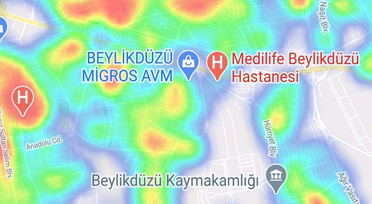 İstanbul da ilçelere göre vaka yoğunluğu #12