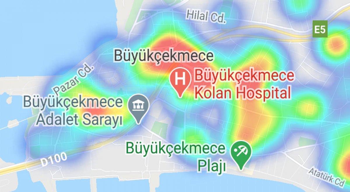 İstanbul da ilçelere göre vaka yoğunluğu #14