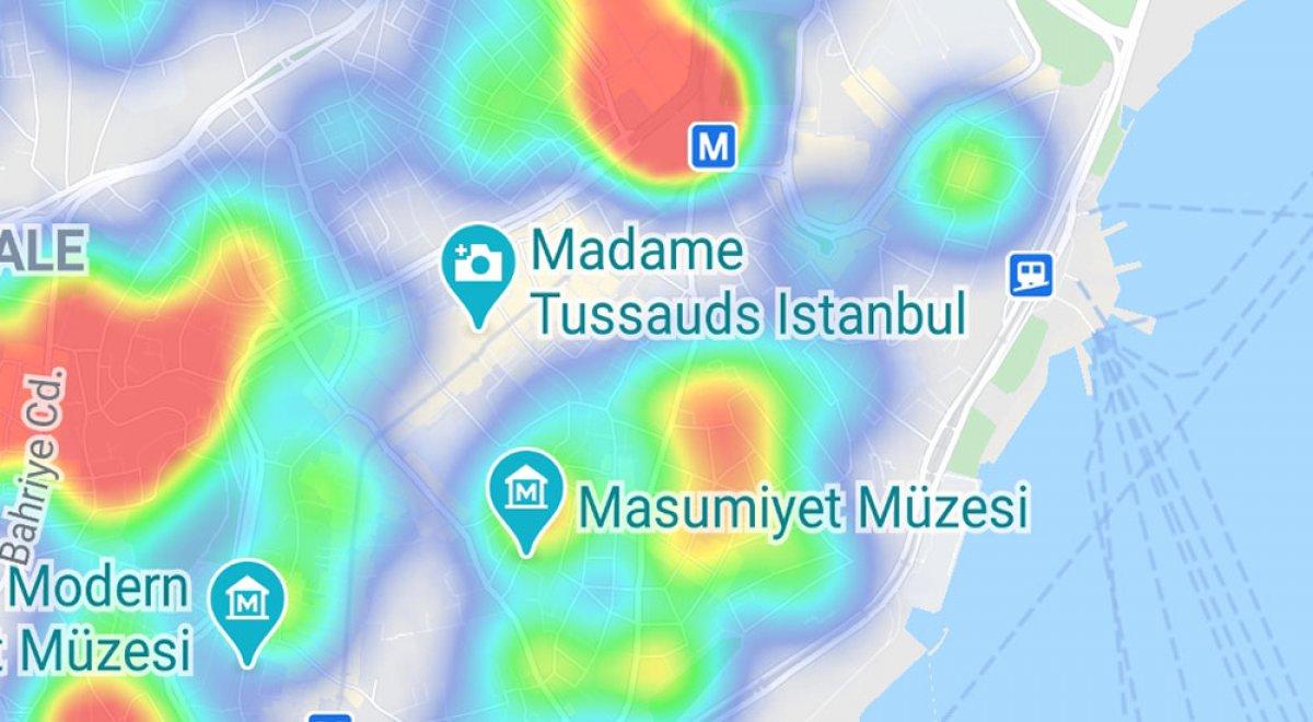 İstanbul da ilçelere göre vaka yoğunluğu #13