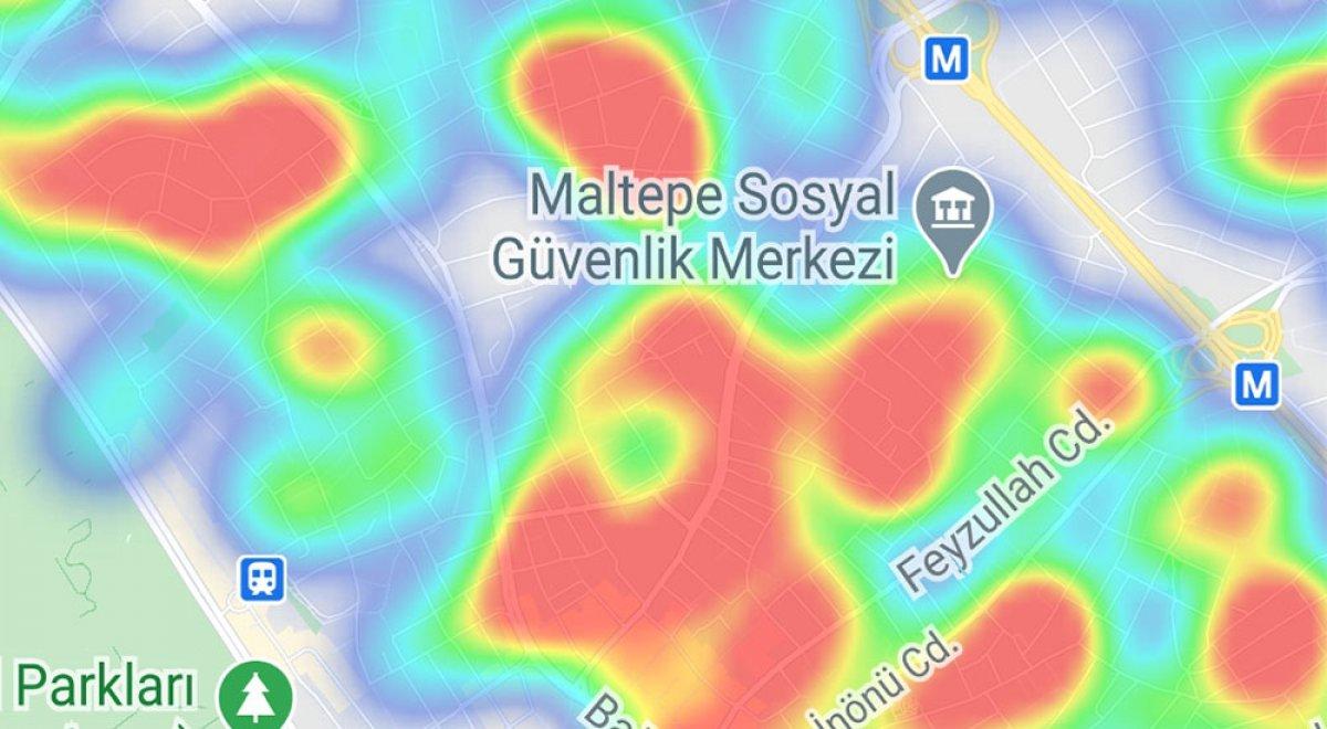 İstanbul da ilçelere göre vaka yoğunluğu #27
