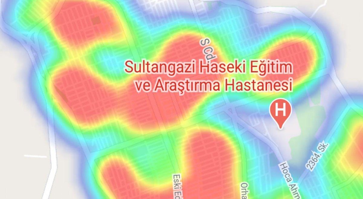 İstanbul da ilçelere göre vaka yoğunluğu #33