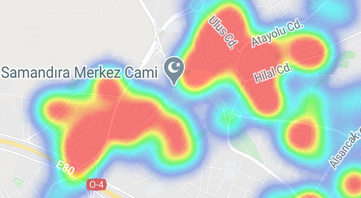 İstanbul da ilçelere göre vaka yoğunluğu #29