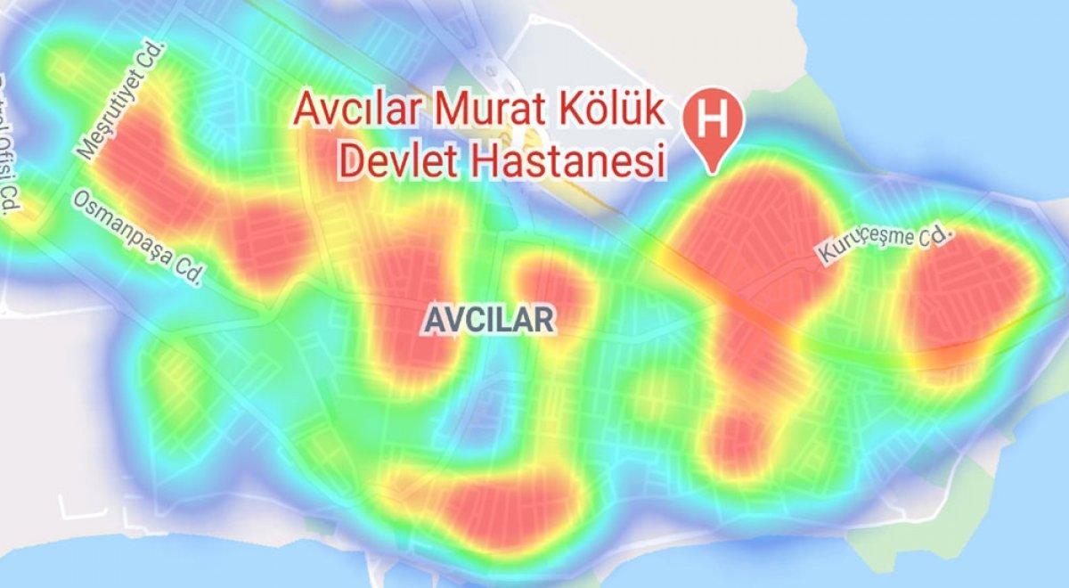 İstanbul da ilçelere göre vaka yoğunluğu #4