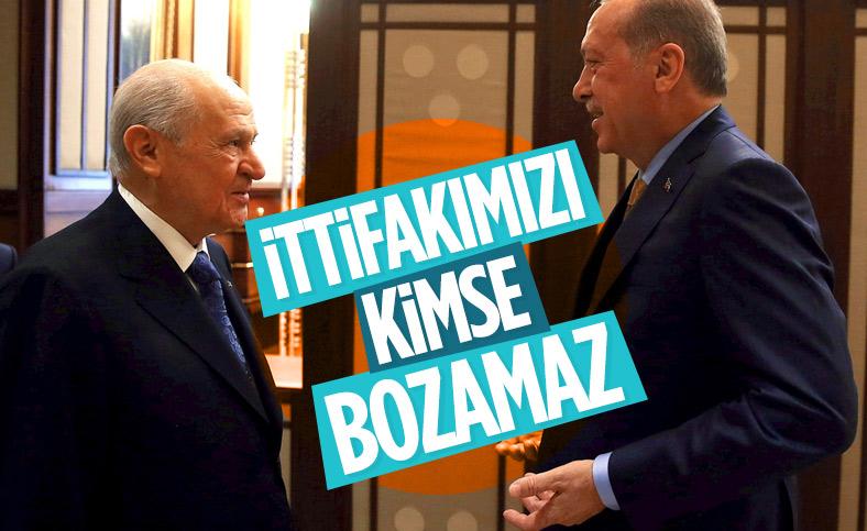 Devlet Bahçeli'den 'Cumhur İttifakı' açıklaması