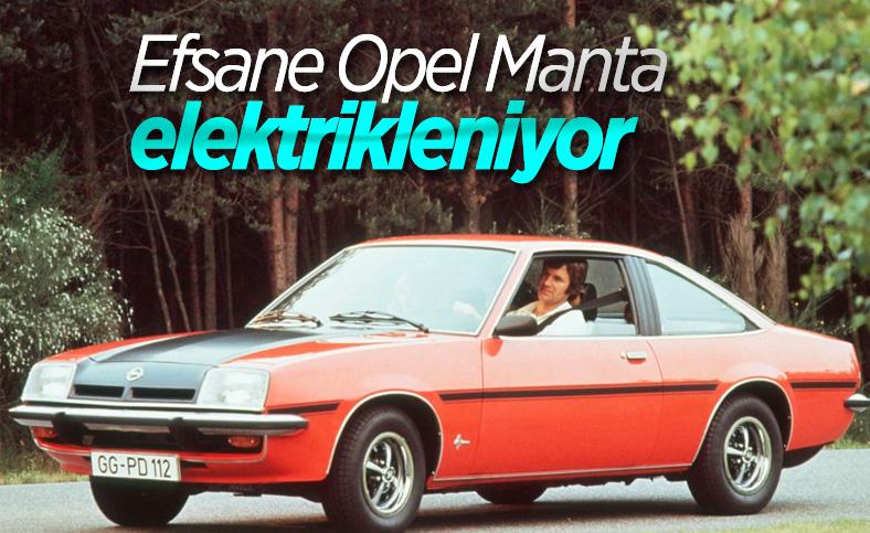 Opel'in klasik modeli Manta, elektrikli araca dönüşüyor