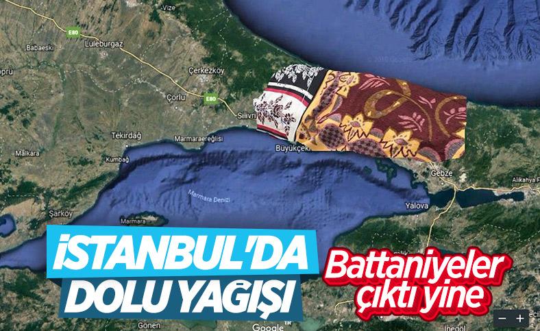 İstanbul'da da dolu yağışı başladı