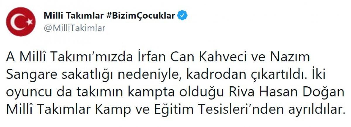 Fenerbahçeli iki oyuncu milli takım kadrosundan çıkarıldı #1