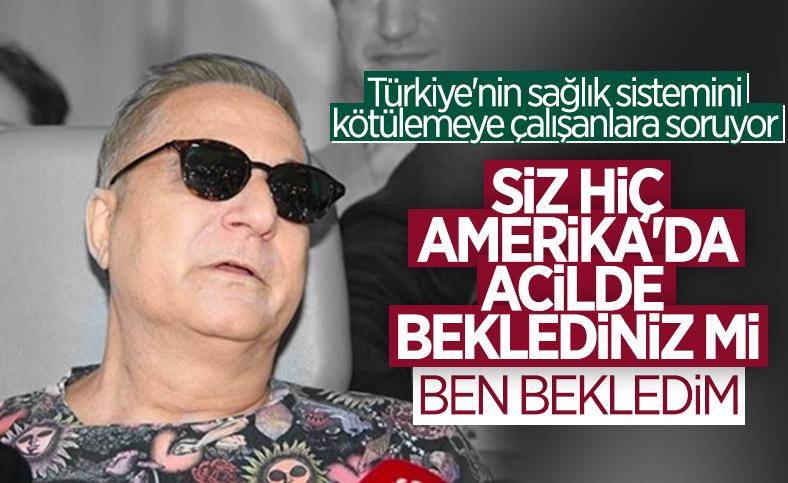 Mehmet Ali Erbil ,Türkiye ile ABD'deki sağlık sistemini karşılaştırdı