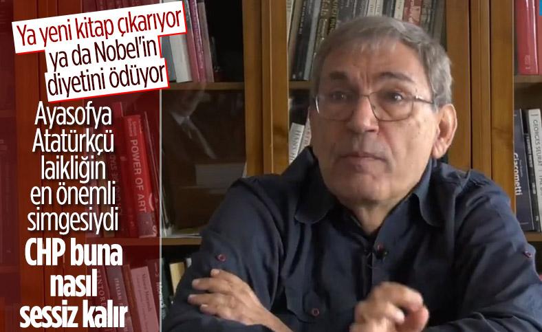 Orhan Pamuk Ayasofya için CHP'yi sessiz kalmakla suçladı