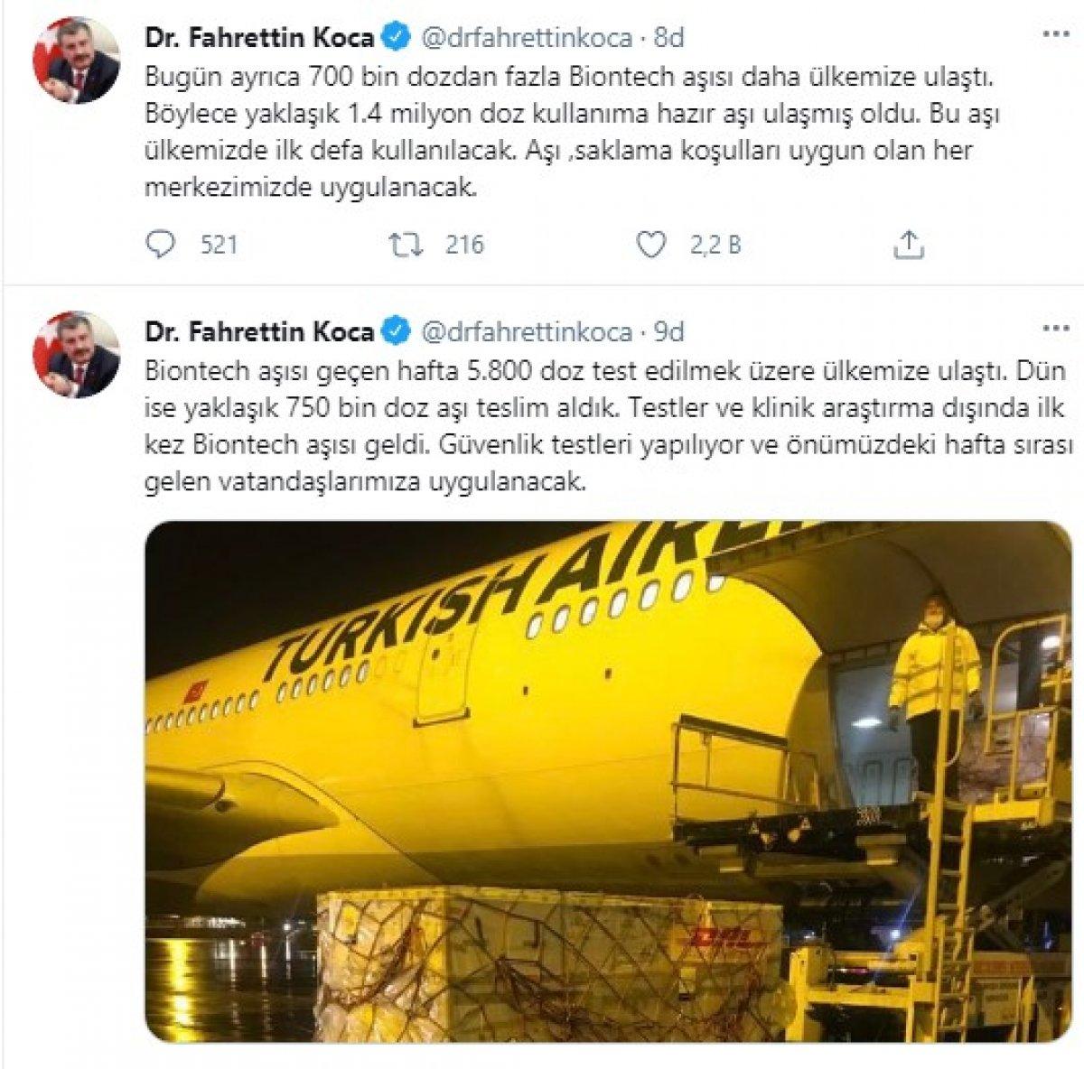Biontech aşıları Türkiye ye geldi  #1