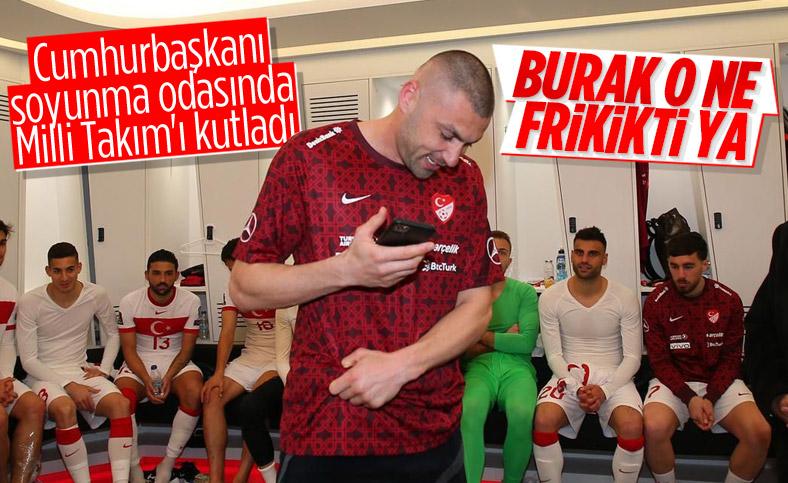 Cumhurbaşkanı Erdoğan A Milli Fubol Takımı'nı tebrik etti