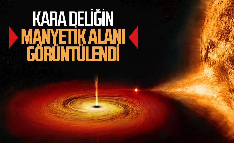 Kara deliğin etrafındaki manyetik alan ilk defa görüntülendi