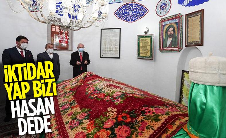 Kemal Kılıçdaroğlu Hasandede Türbesi'nde dua etti