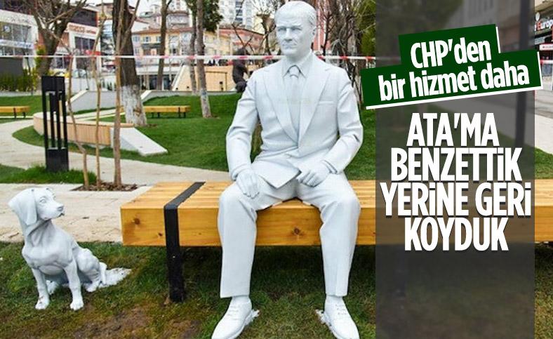 CHP'li Bilecik Belediyesi, Atatürk heykelini yeniden yaptırdı