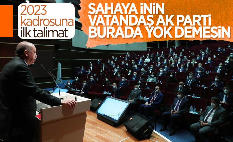 Cumhurbaşkanı Erdoğan'dan MKYK'ya ilk talimatlar
