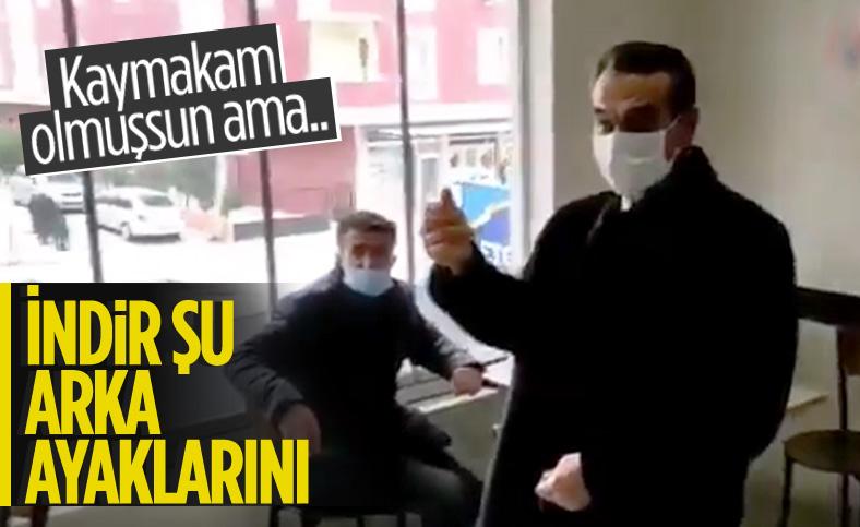 Vatandaşları azarlayan Çerkezköy Kaymakamı'na soruşturma