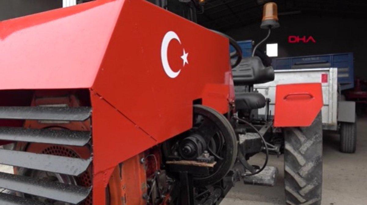 Konya da garajında mini traktör yaptı #1