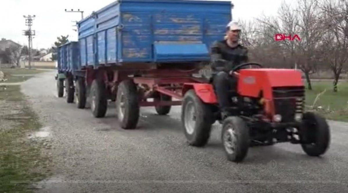Konya da garajında mini traktör yaptı #3