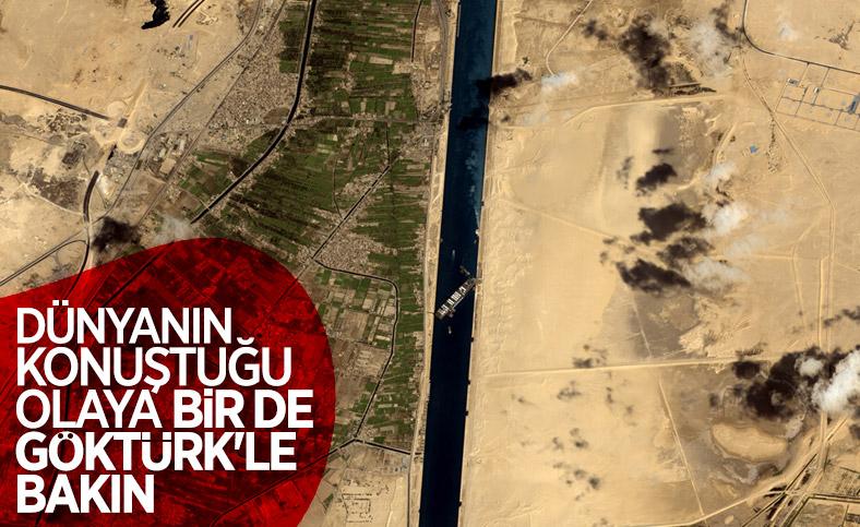 Göktürk 1 Keşif Uydusu, Süveyş Kanalı'ndaki kapanmayı görüntüledi