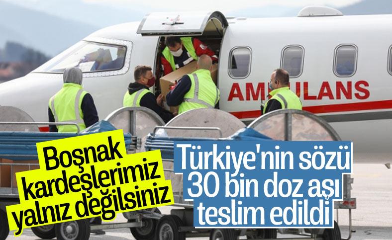 Türkiye'nin hibe ettiği korona aşıları Bosna Hersek'e ulaştı