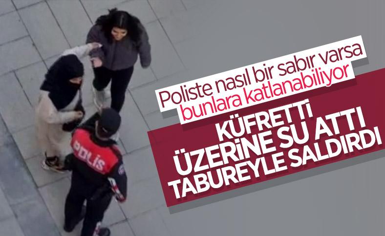 Karabük'te kimliği istenen kişinin yakınları polisleri uğraştırdı