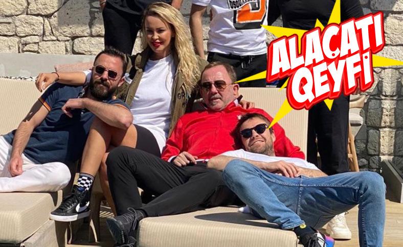 Sergen Yalçın ile Murat Dalkılıç tatilde