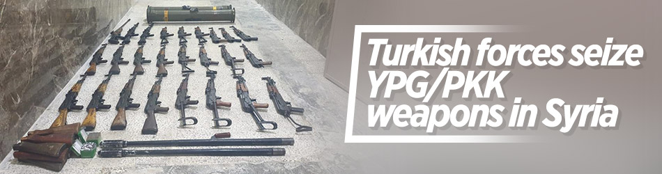 Turkish security forces seize 24 YPG/PKK weapons in Syria