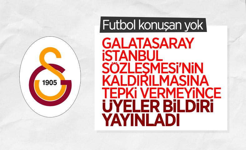 Galatasaray Spor Kulübü üyelerinden İstanbul Sözleşmesi ilanı