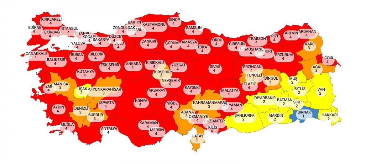 Koronavirüs risk haritasının 1 ay içindeki değişimi  #2