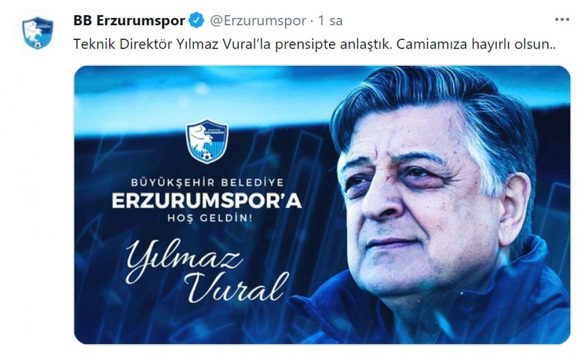 Erzurumspor, Yılmaz Vural ile anlaştığını açıkladı #1