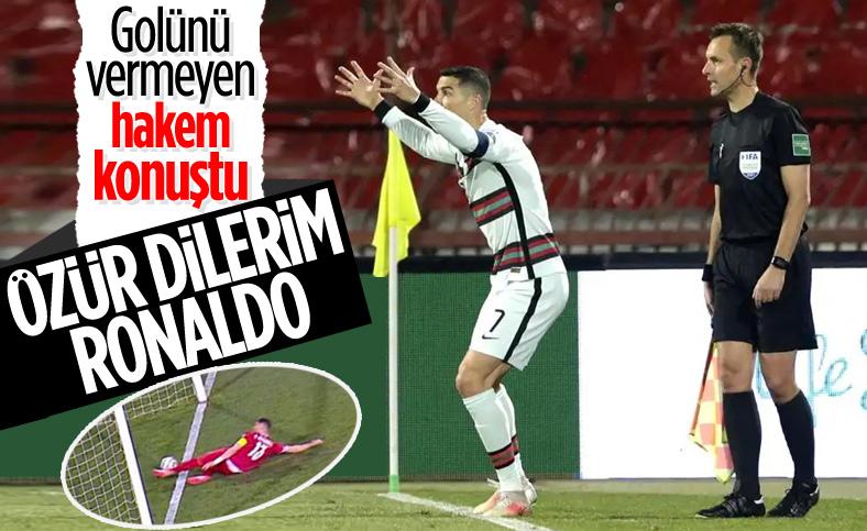 Sırbistan-Portekiz maçının orta hakemi özür diledi
