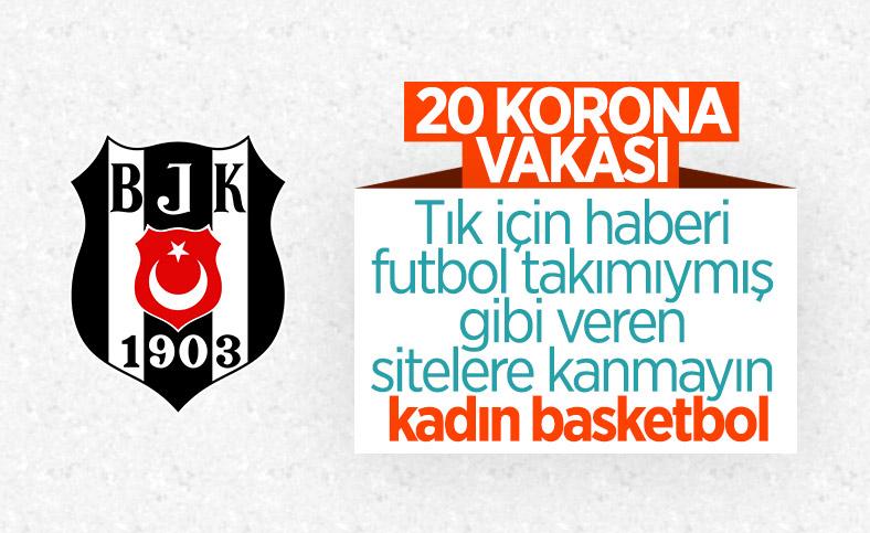 Beşiktaş Kadın Basketbol Takımı'nda 20 koronavirüs vakası