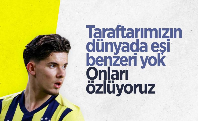 Ferdi Kadıoğlu: Fenerbahçe'de ilk yılımda çok zorlandım