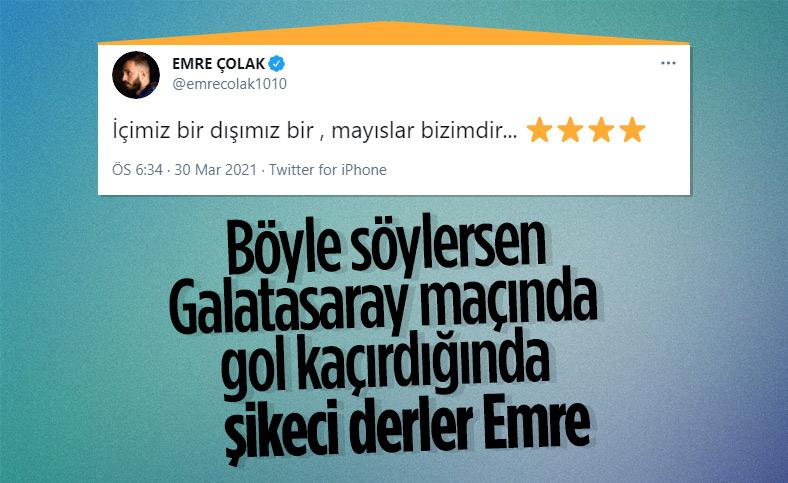 Emre Çolak'tan Galatasaray paylaşımı: Mayıslar bizimdir