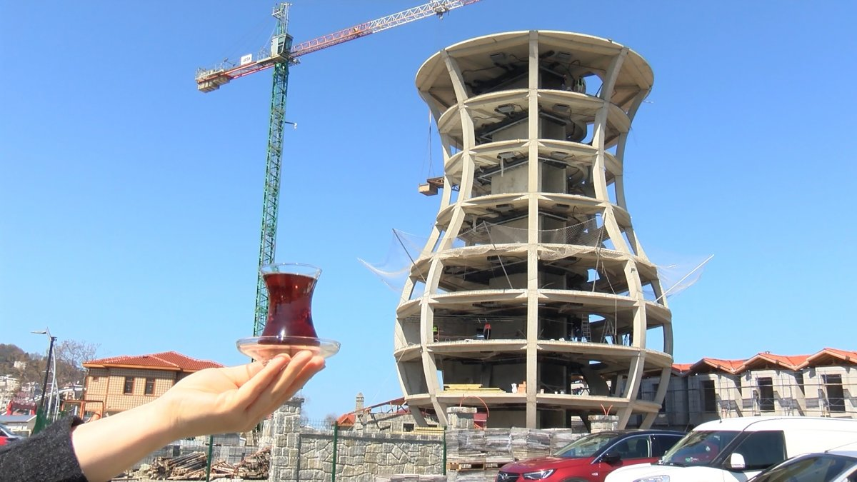 Dünyanın en büyük çay bardağı Rize de yükseliyor  #6