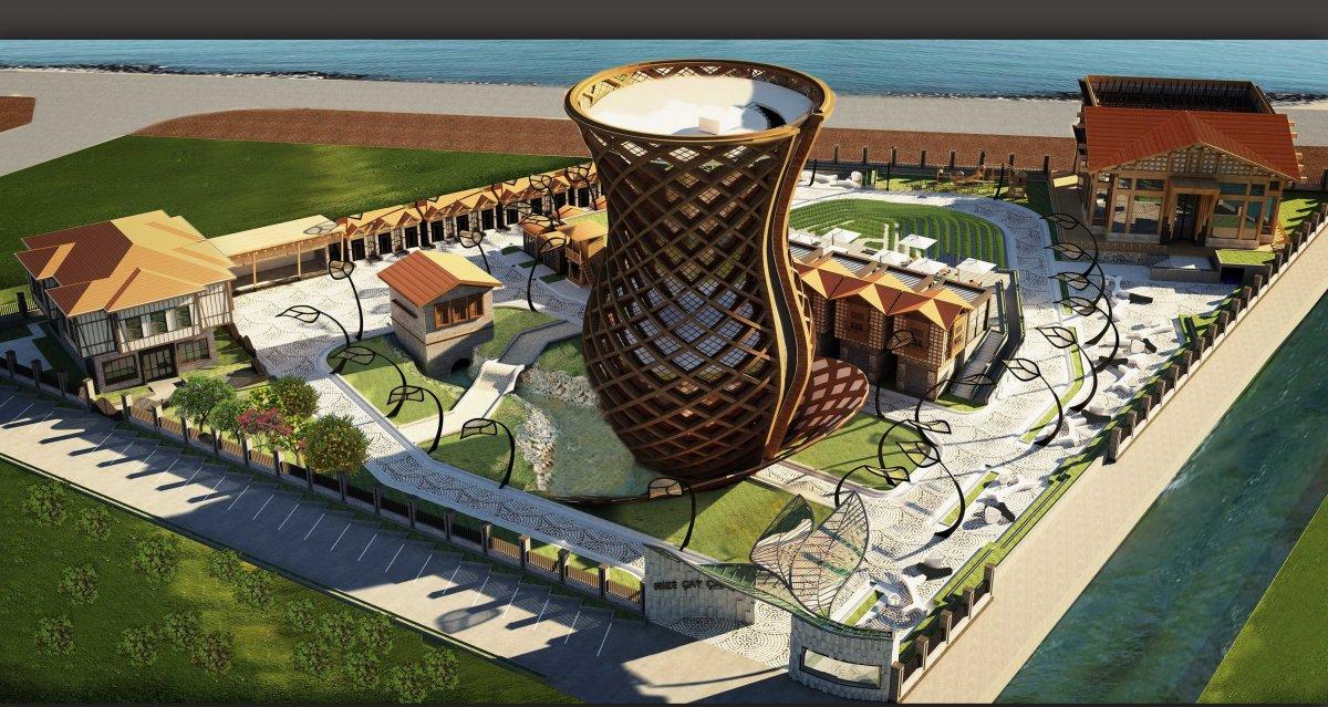 Dünyanın en büyük çay bardağı Rize de yükseliyor  #2