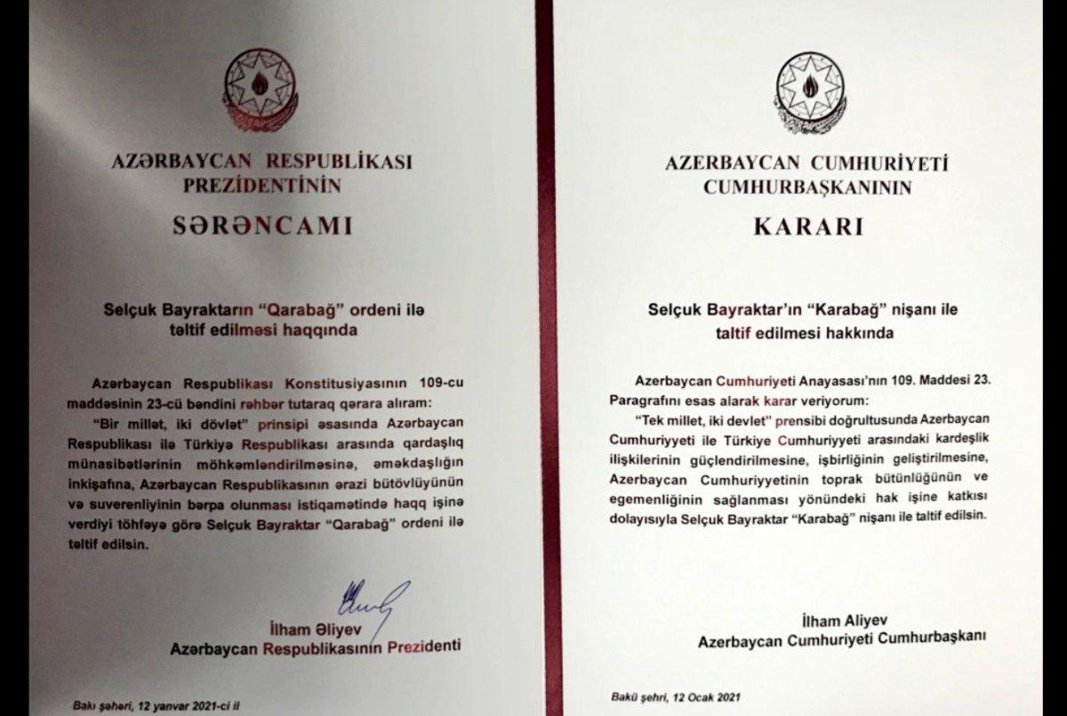 İlham Aliyev, Selçuk Bayraktar a madalya taktı #4