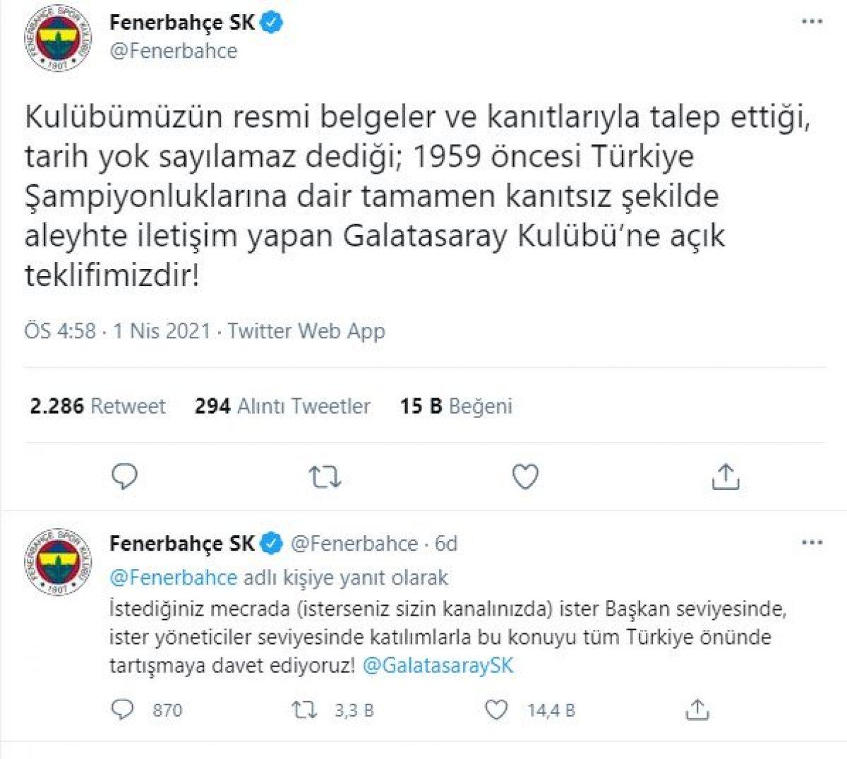 Fenerbahçe den Galatasaray a: İsterseniz GS TV de tartışalım #2