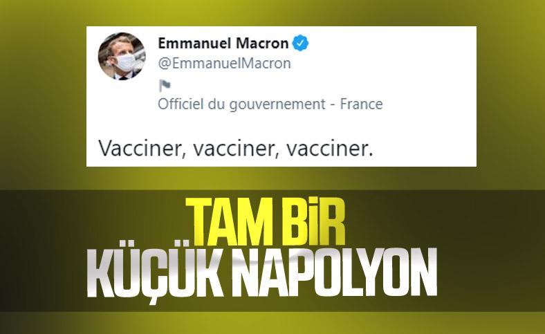 Emmanuel Macron: Aşı, aşı ,aşı