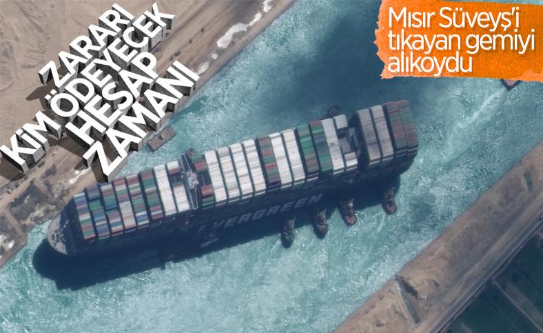 Mısır'dan, Süveyş Kanalı'nı kapatan gemiyi alıkoyma kararı