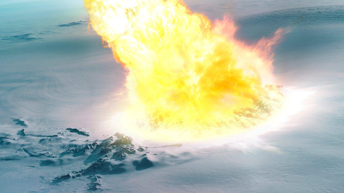 Bilim insanları, Antarktikaya göktaşının çarptığını keşfetti