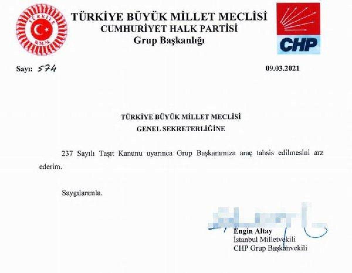 Kılıçdaroğlu na yeni makam aracı istendi #1