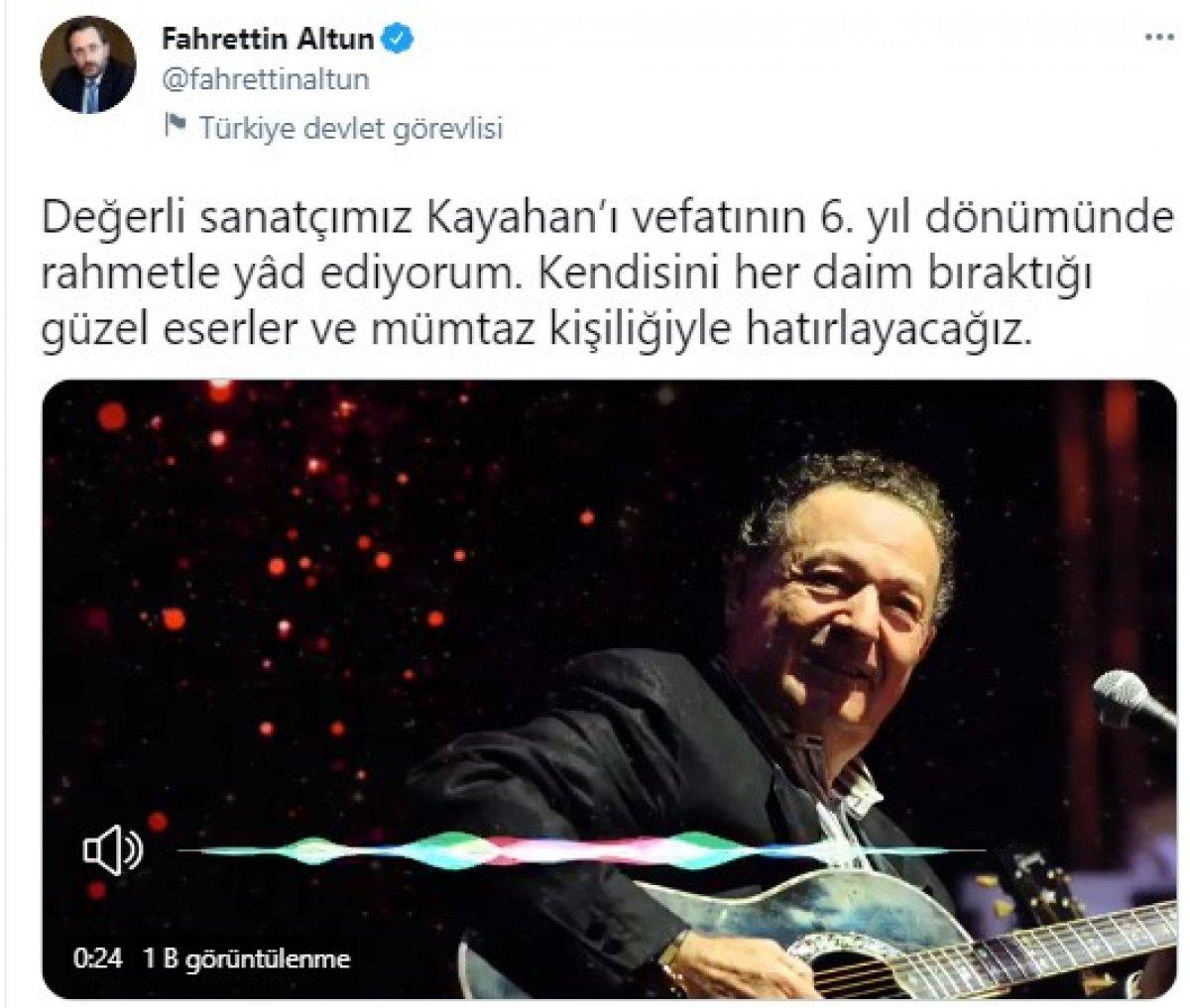 Fahrettin Altun Kayahan ı ölüm yıl dönümünü andı #1