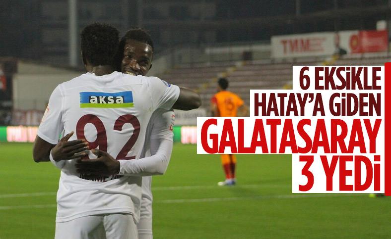 Galatasaray deplasmanda Hatayspor'a 3-0 kaybetti