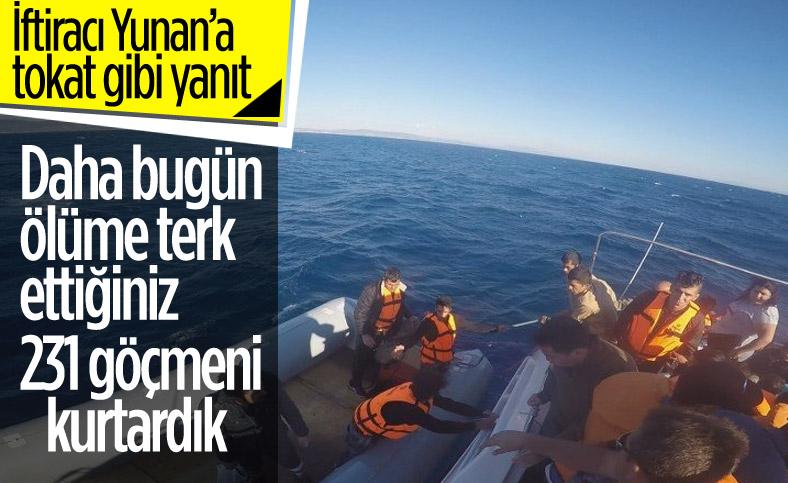 Türkiye'yi suçlayan Yunanistan'a yanıt: Ölüme terk ettiğiniz göçmenleri biz kurtardık