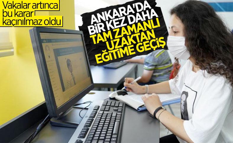 Ankara'da uzaktan eğitimle ilgili karar alındı