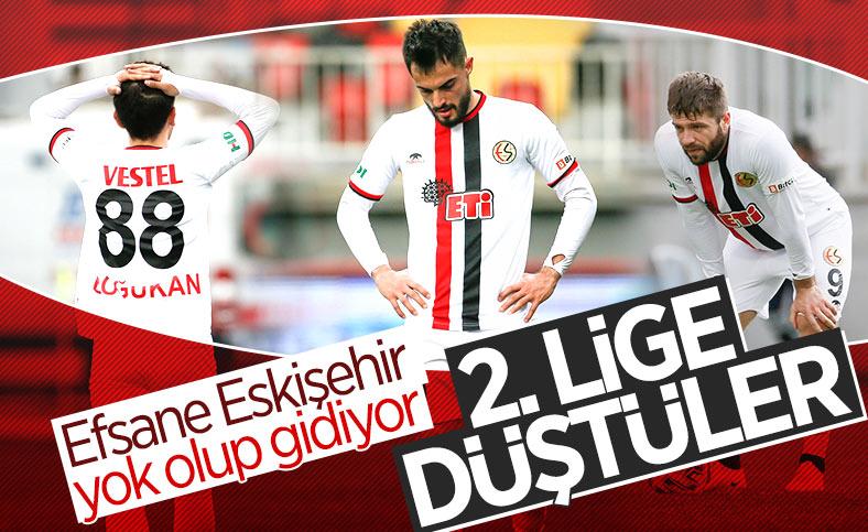 Eskişehirspor TFF 1. Lig'de küme düştü