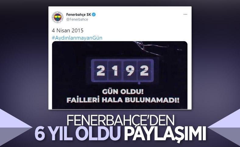 Fenerbahçe'den 4 Nisan paylaşımı